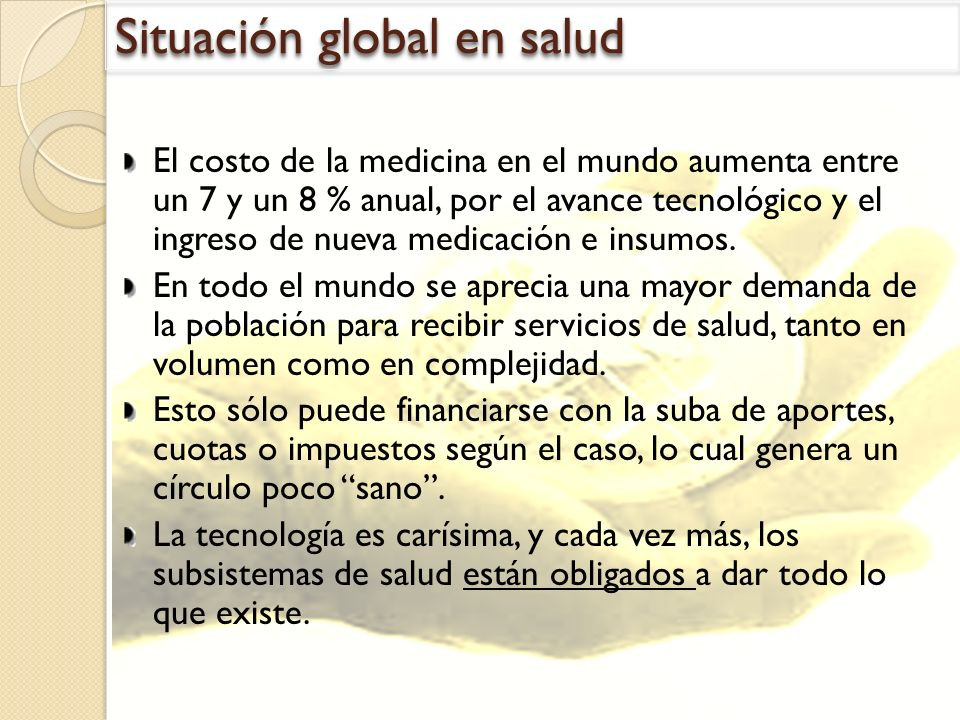 Situación global en salud