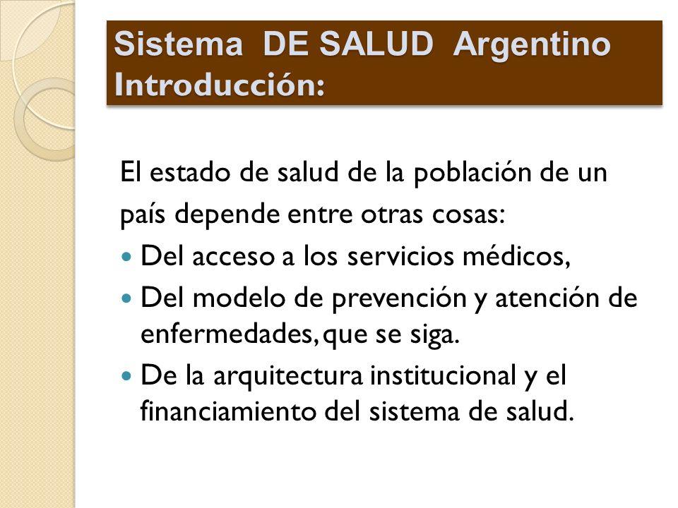 Sistema DE SALUD Argentino Introducción: