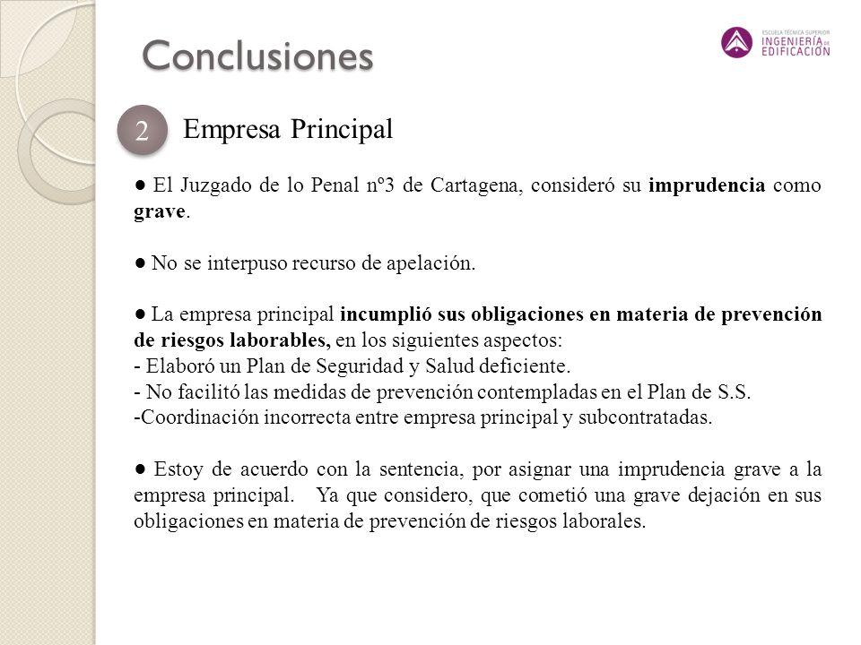 Conclusiones 2 Empresa Principal