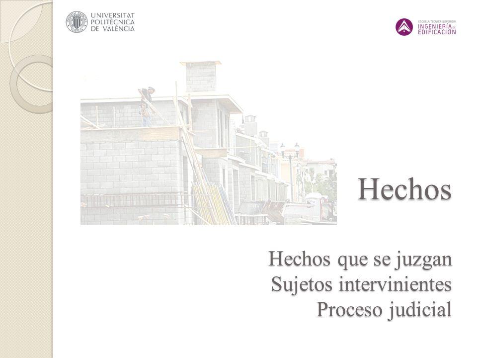 Hechos Hechos que se juzgan Sujetos intervinientes Proceso judicial