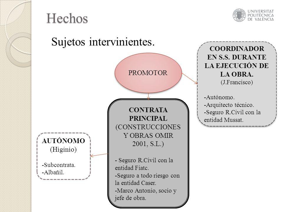 COORDINADOR EN S.S. DURANTE LA EJECUCIÓN DE LA OBRA.