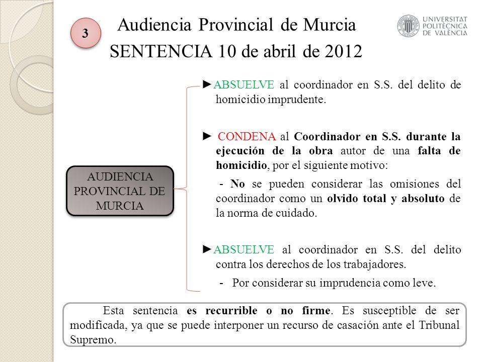 Audiencia Provincial de Murcia SENTENCIA 10 de abril de 2012