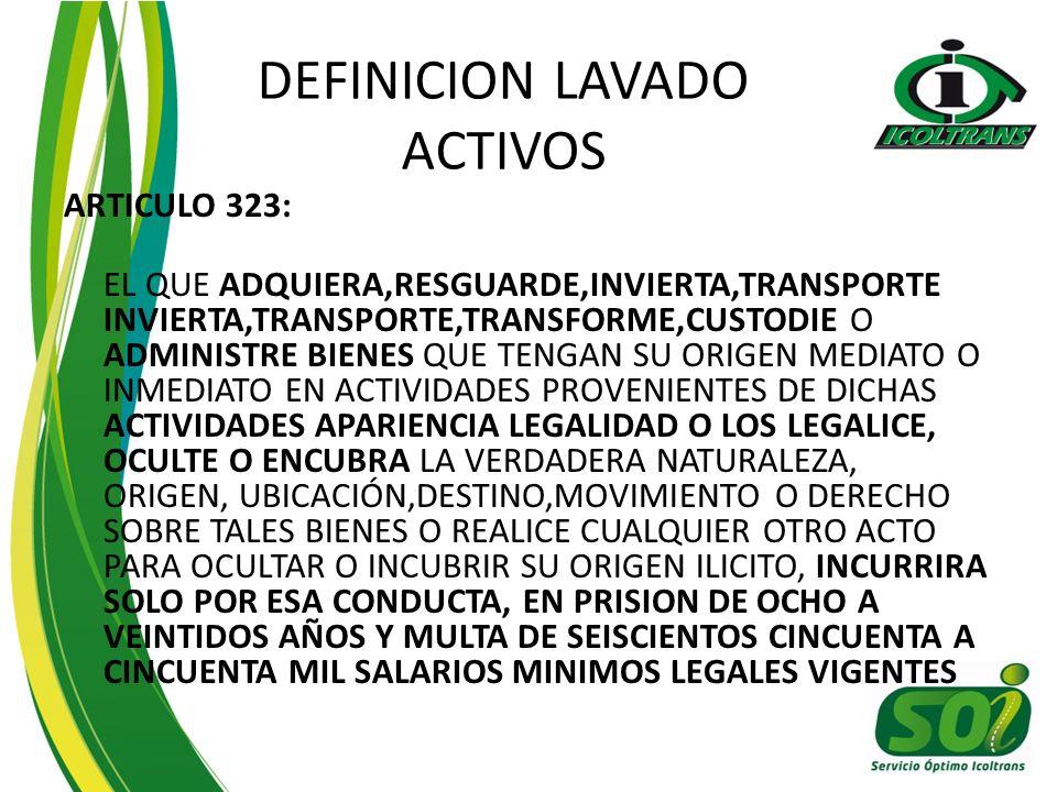 DEFINICION LAVADO ACTIVOS