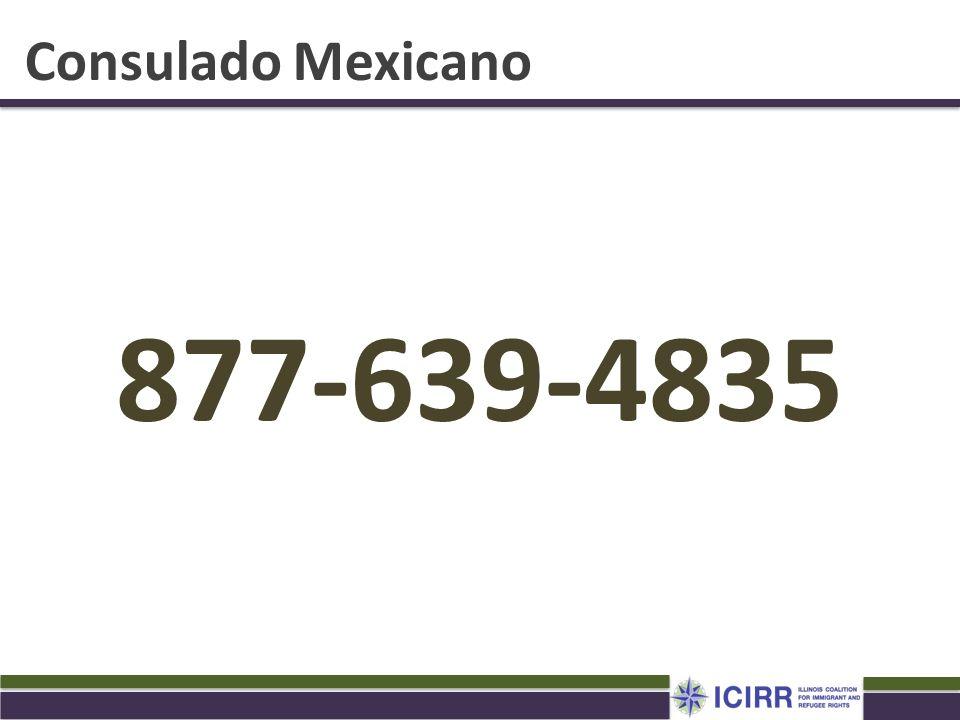 Consulado Mexicano 877-639-4835. Haga cita con el consulado para sacar su matricula o matricula.