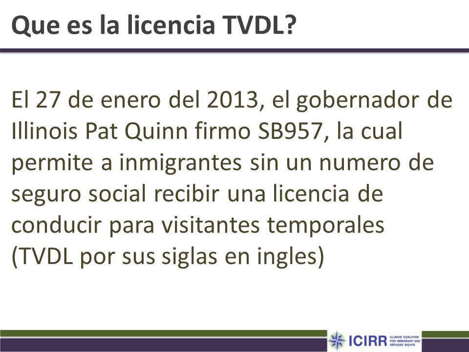 Que es la licencia TVDL