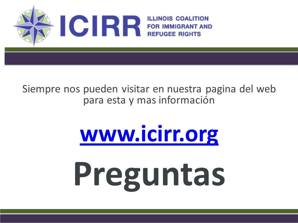 Preguntas www.icirr.org