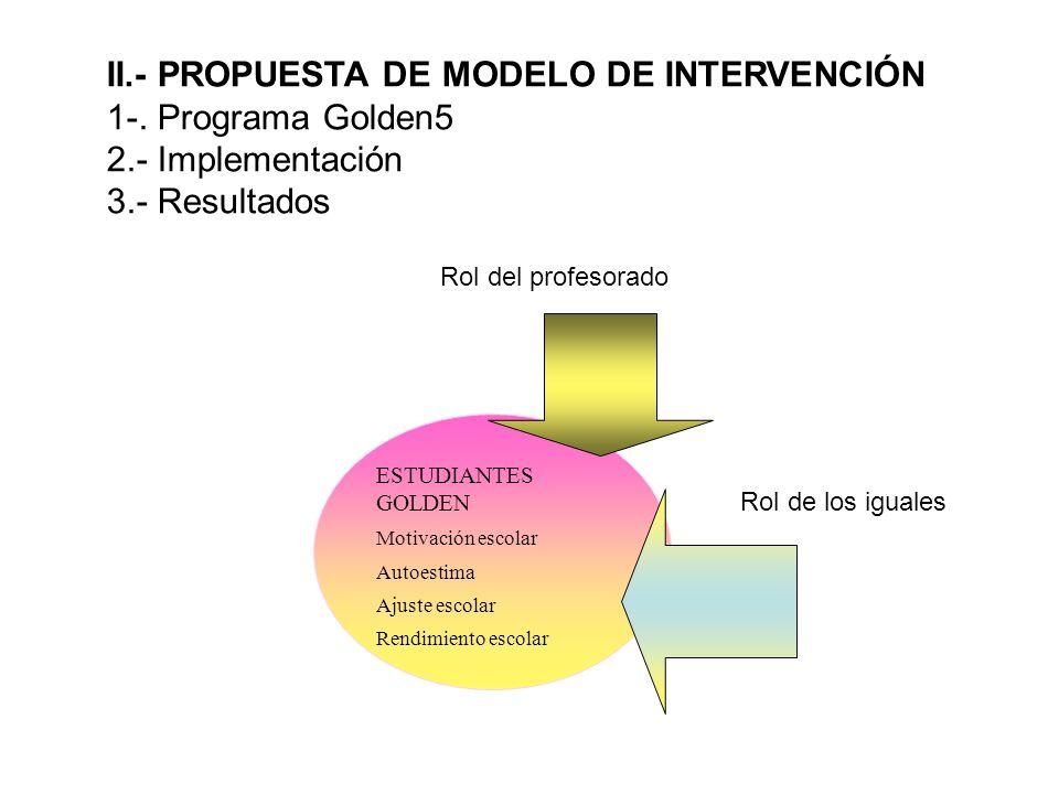 II.- PROPUESTA DE MODELO DE INTERVENCIÓN 1-. Programa Golden5