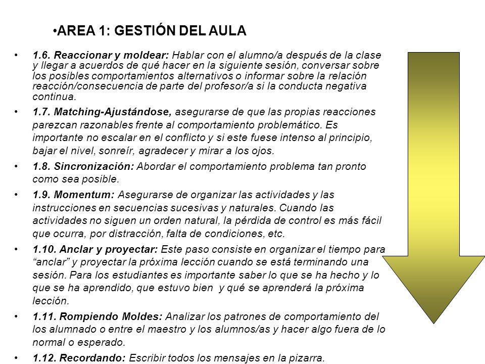 AREA 1: GESTIÓN DEL AULA