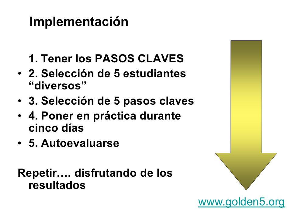 Implementación 1. Tener los PASOS CLAVES