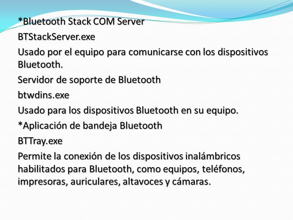*Bluetooth Stack COM Server