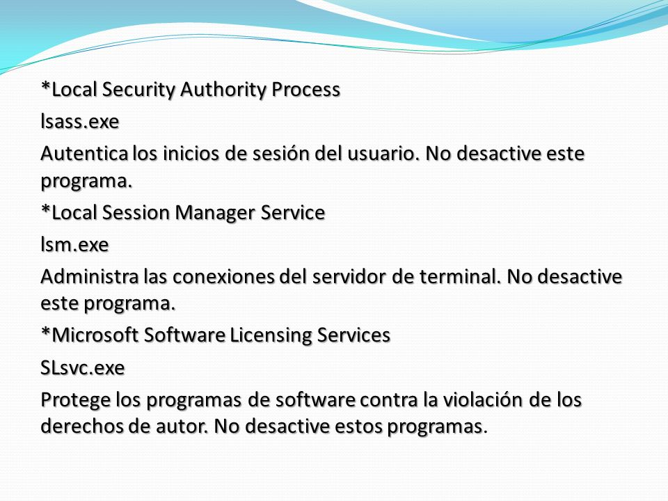 Local Security Authority Process lsass