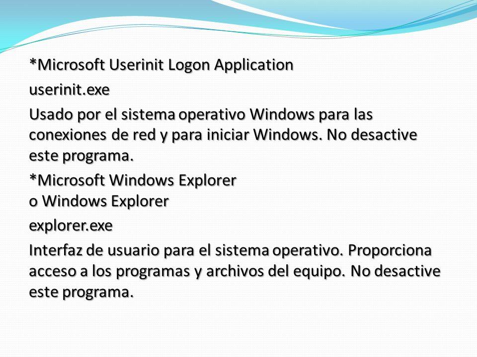 *Microsoft Userinit Logon Application