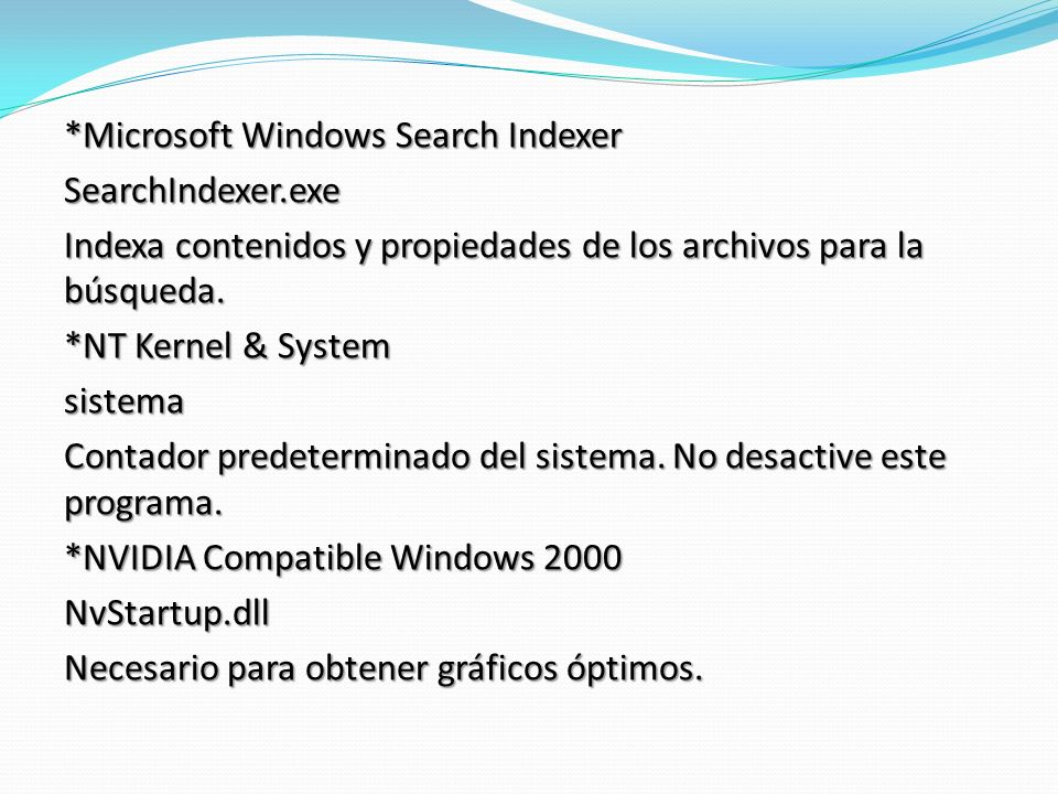 *Microsoft Windows Search Indexer