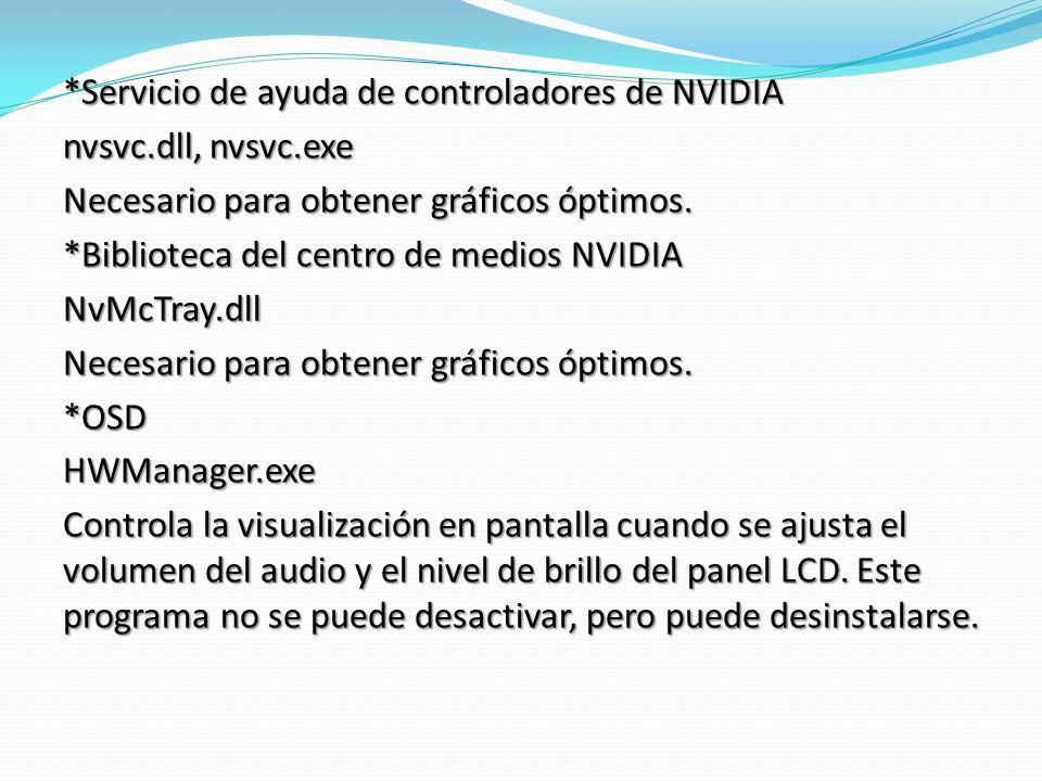 *Servicio de ayuda de controladores de NVIDIA