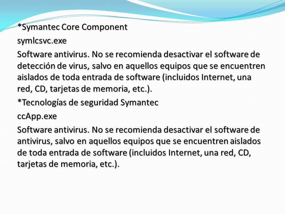 Symantec Core Component symlcsvc. exe Software antivirus