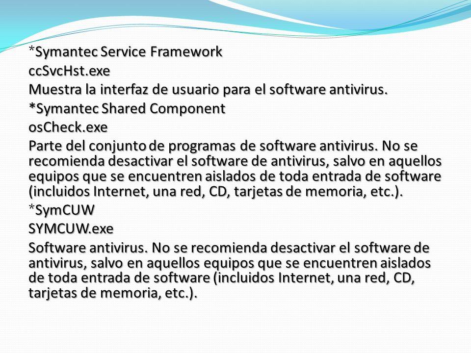 *Symantec Service Framework