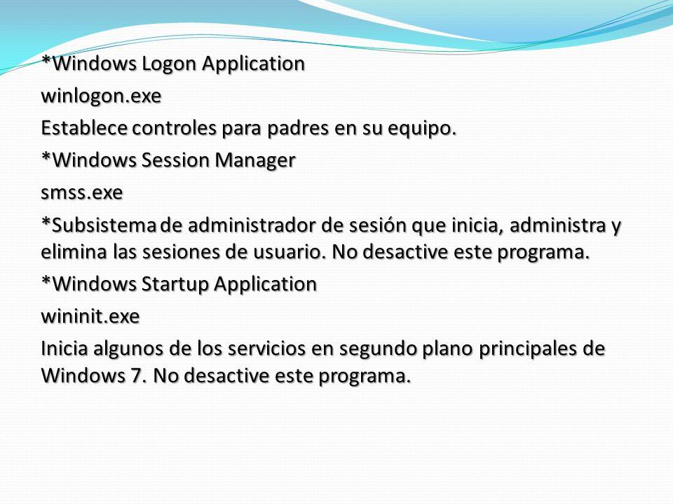 *Windows Logon Application