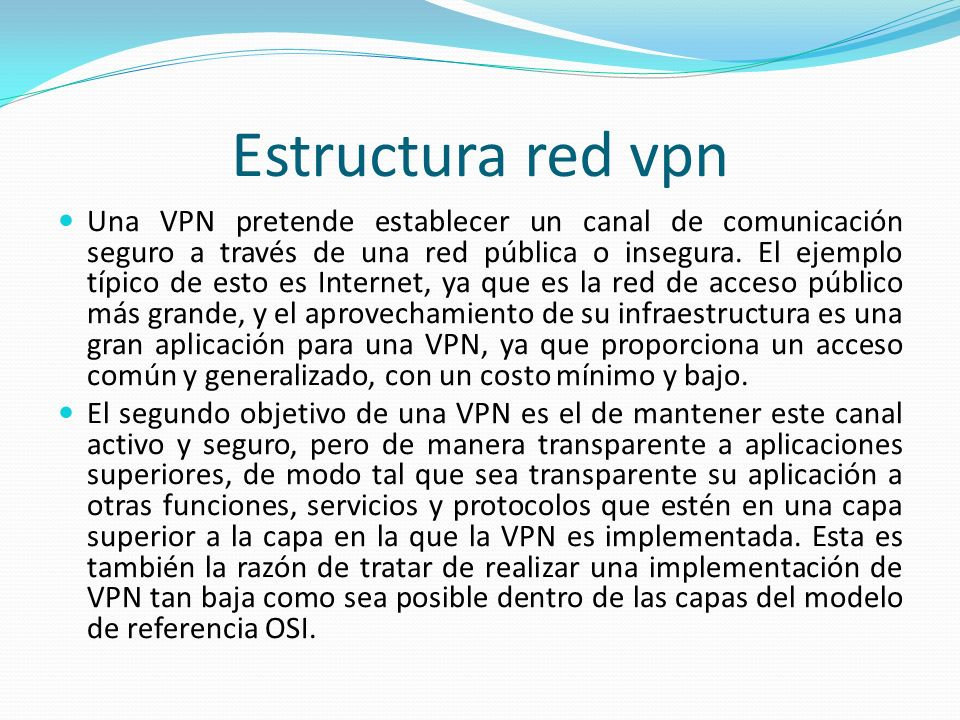Estructura red vpn