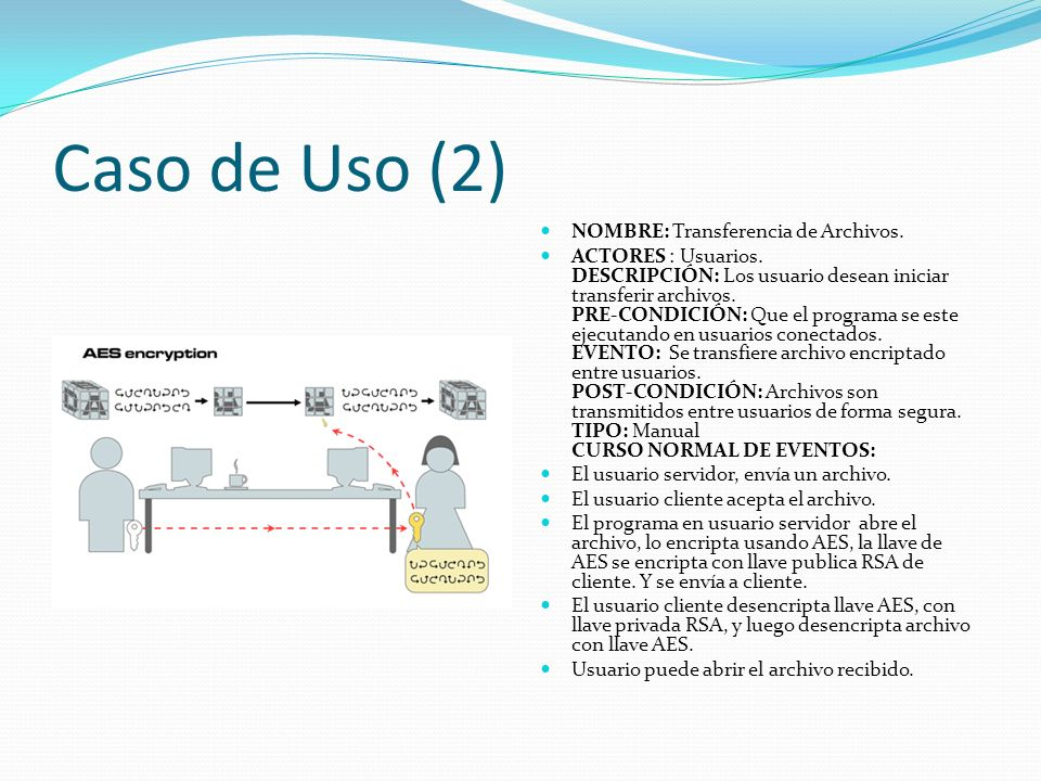 Caso de Uso (2) NOMBRE: Transferencia de Archivos.