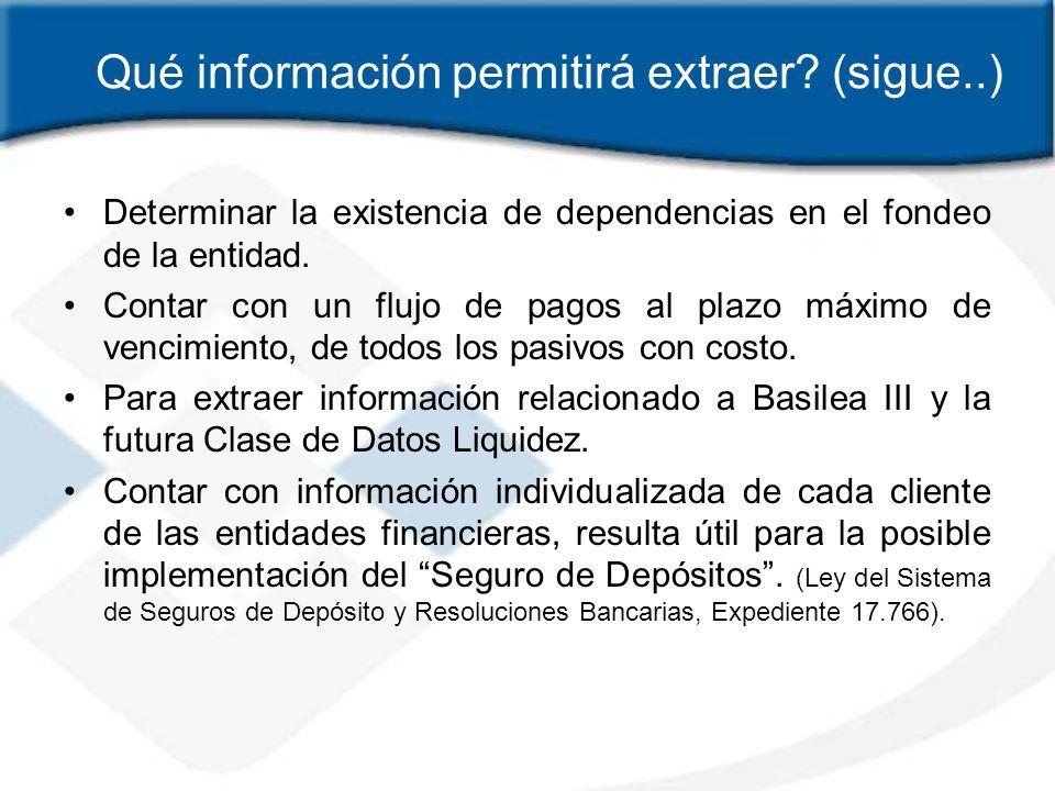 Qué información permitirá extraer (sigue..)