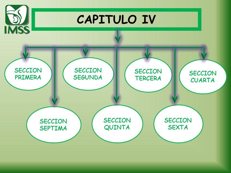 CAPITULO IV SECCION PRIMERA SECCION SEGUNDA SECCION TERCERA