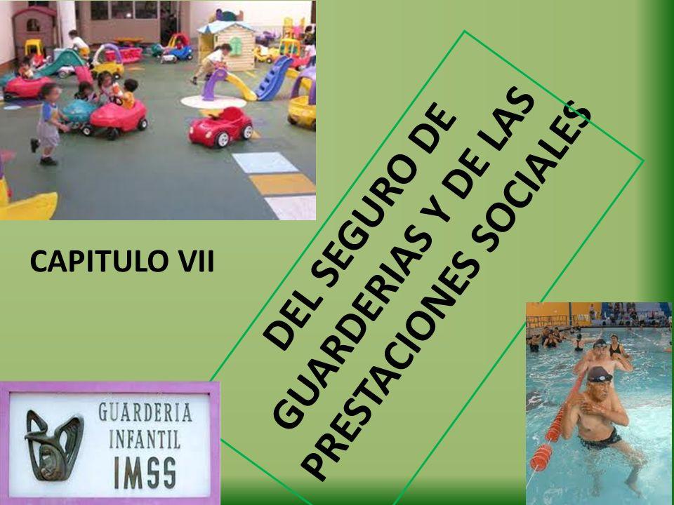 DEL SEGURO DE GUARDERIAS Y DE LAS PRESTACIONES SOCIALES