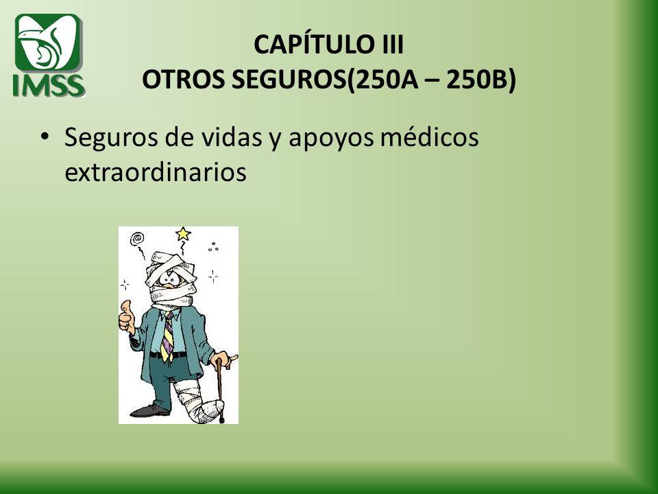 CAPÍTULO III OTROS SEGUROS(250A – 250B)