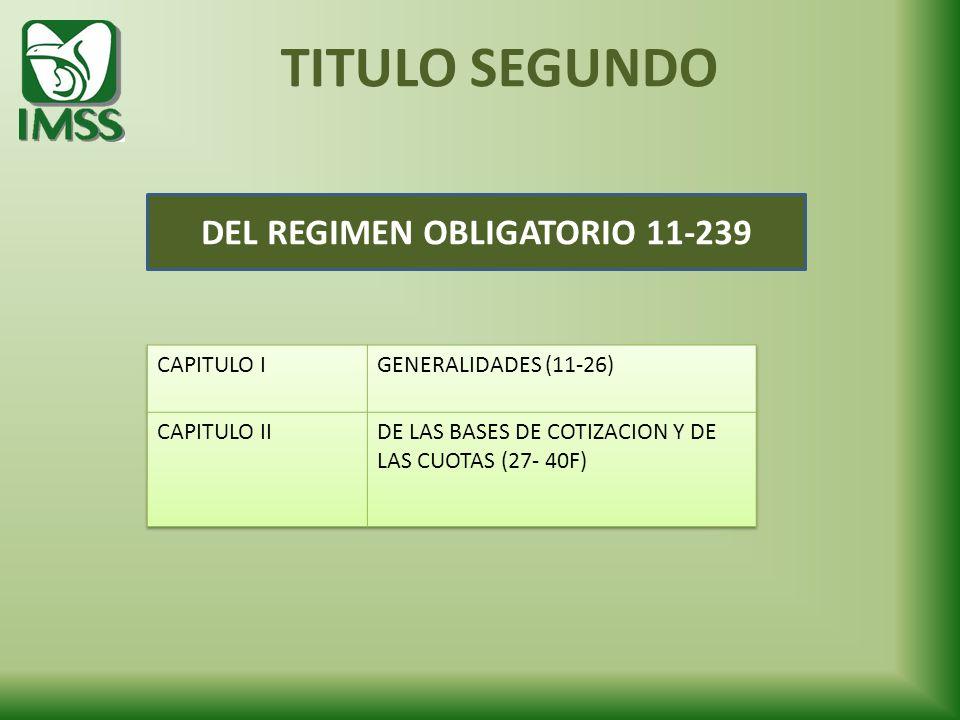 DEL REGIMEN OBLIGATORIO 11-239