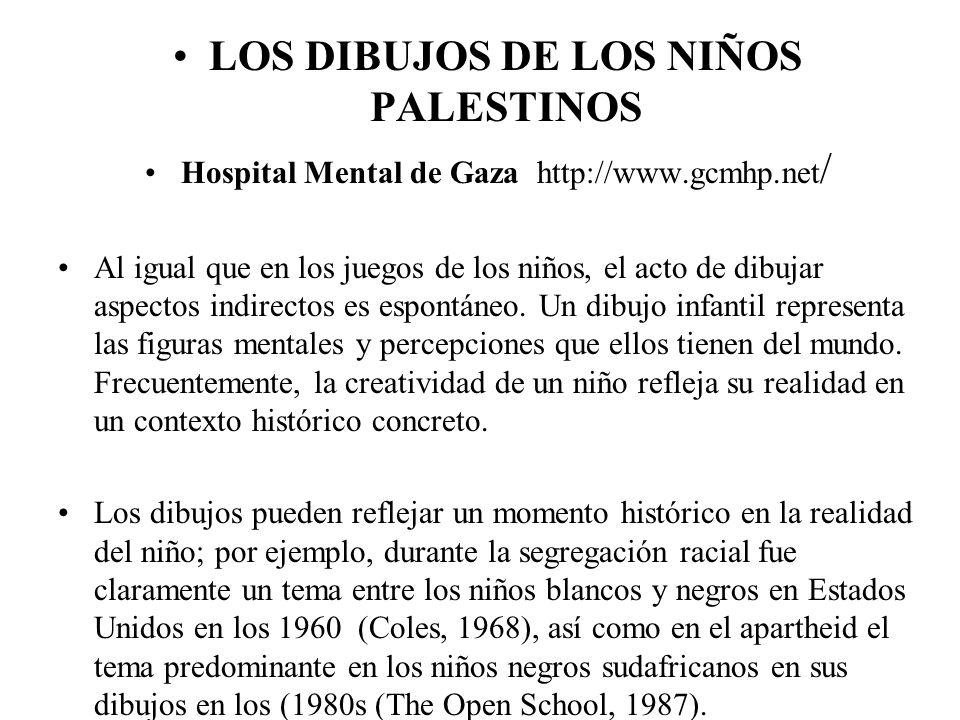 LOS DIBUJOS DE LOS NIÑOS PALESTINOS