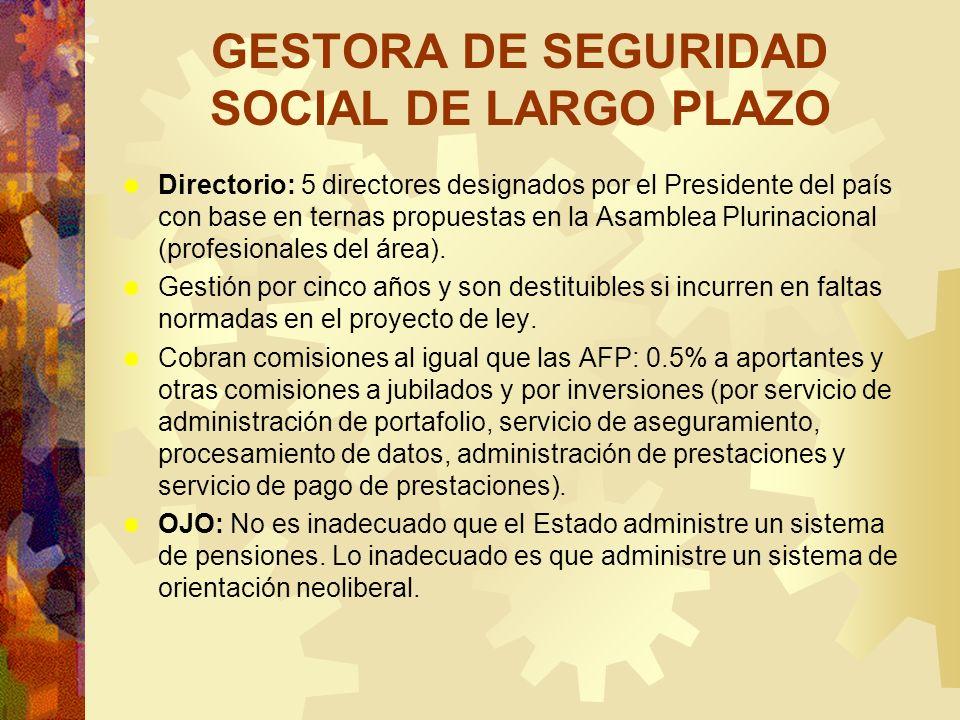 GESTORA DE SEGURIDAD SOCIAL DE LARGO PLAZO