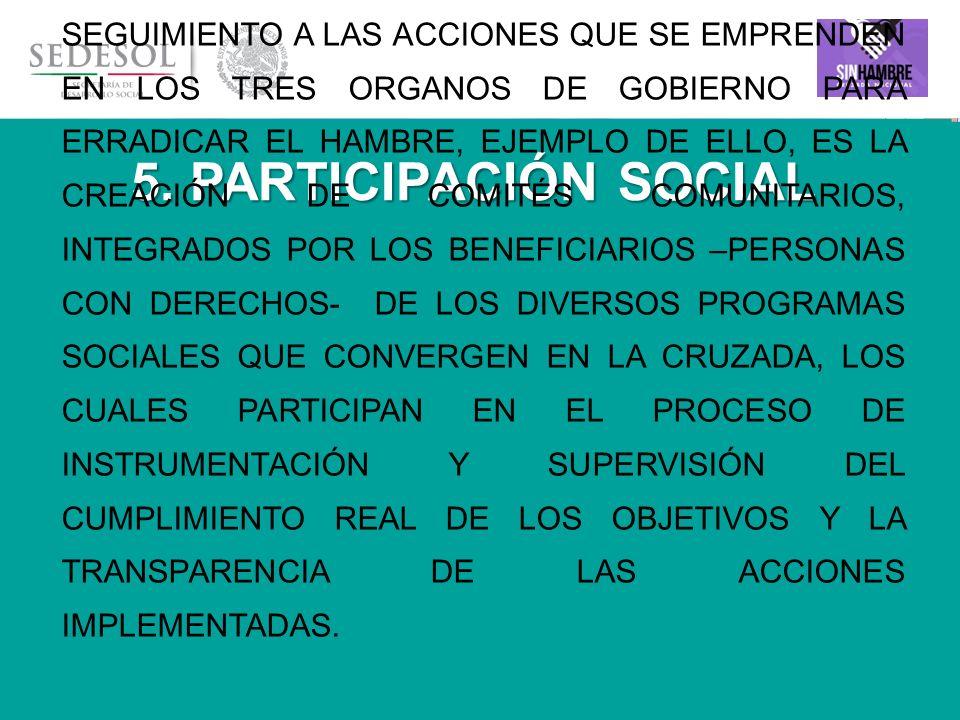5. PARTICIPACIÓN SOCIAL
