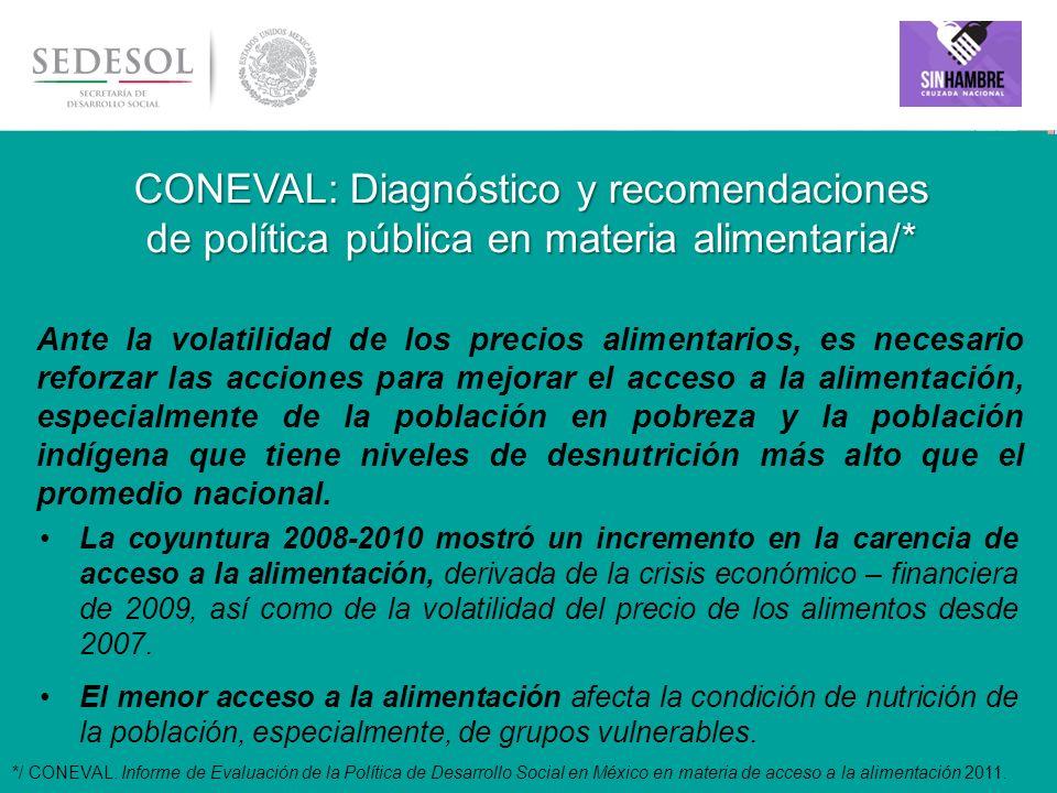 CONEVAL: Diagnóstico y recomendaciones