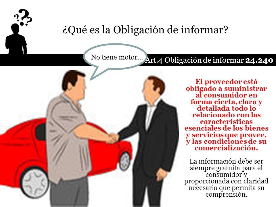 ¿Qué es la Obligación de informar
