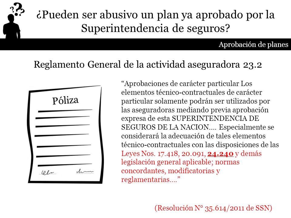 Reglamento General de la actividad aseguradora 23.2