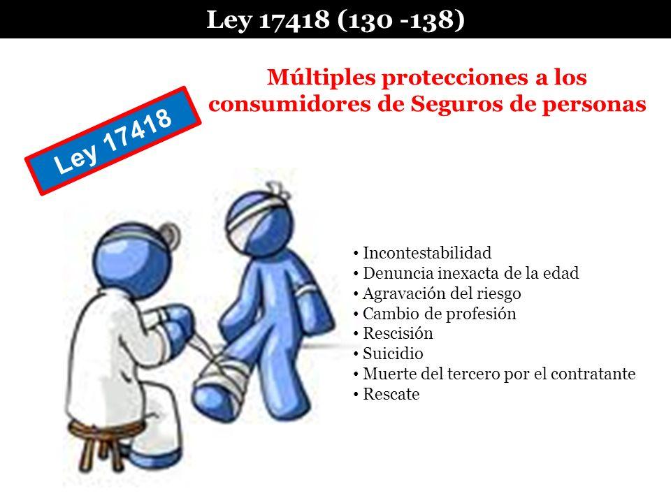 Múltiples protecciones a los consumidores de Seguros de personas