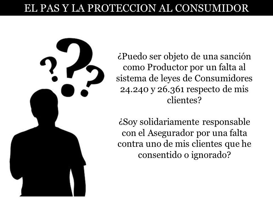 EL PAS Y LA PROTECCION AL CONSUMIDOR