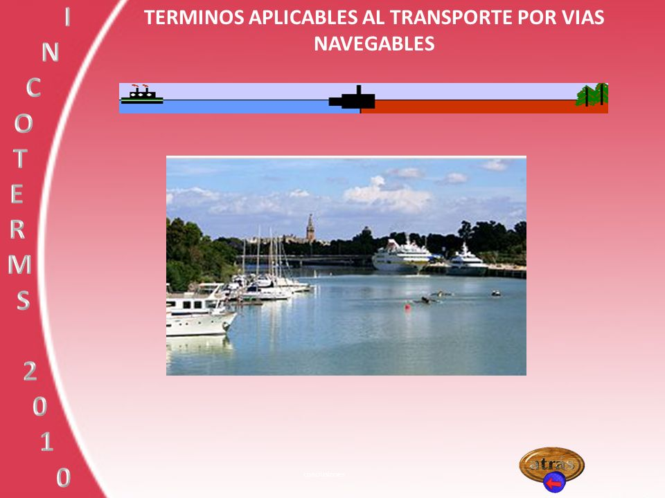 TERMINOS APLICABLES AL TRANSPORTE POR VIAS NAVEGABLES