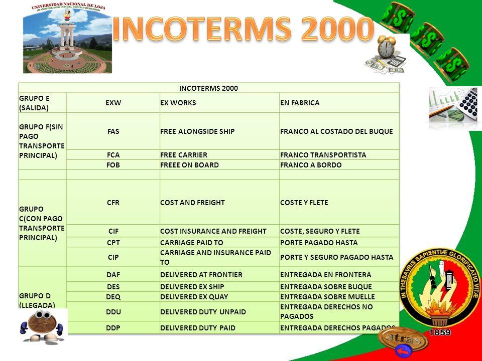 INCOTERMS 2000 INTRODUCCIÓN INCOTERMS 2000 GRUPO E (SALIDA) EXW