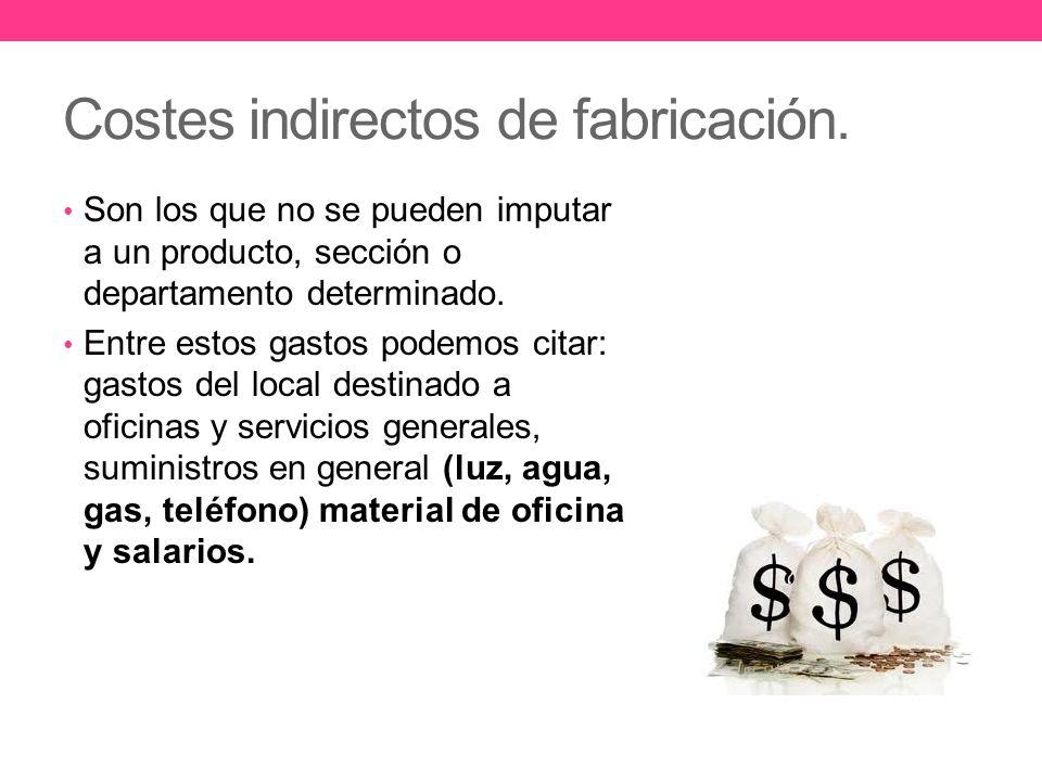 Costes indirectos de fabricación.