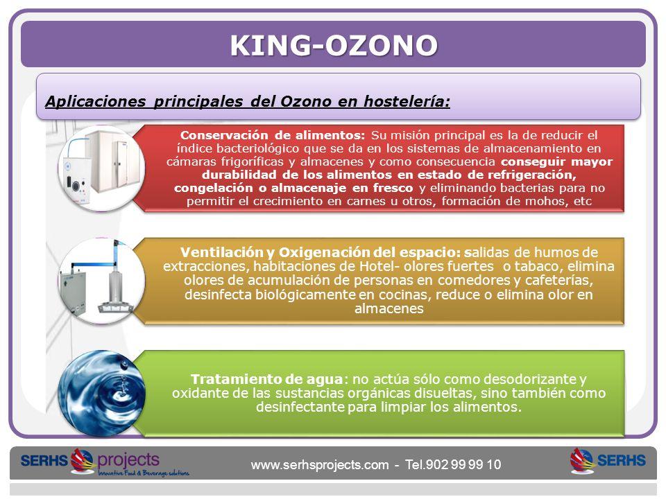 KING-OZONO Aplicaciones principales del Ozono en hostelería: