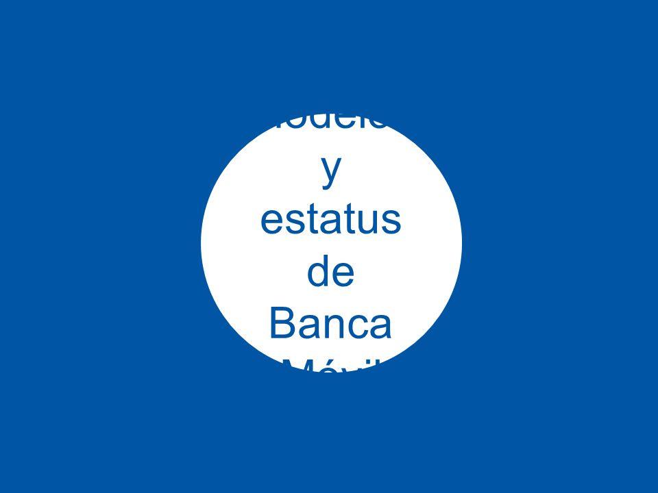 Modelos y estatus de Banca Móvil