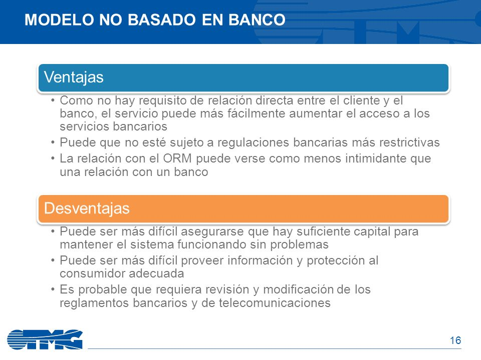 Modelo No basado en banco