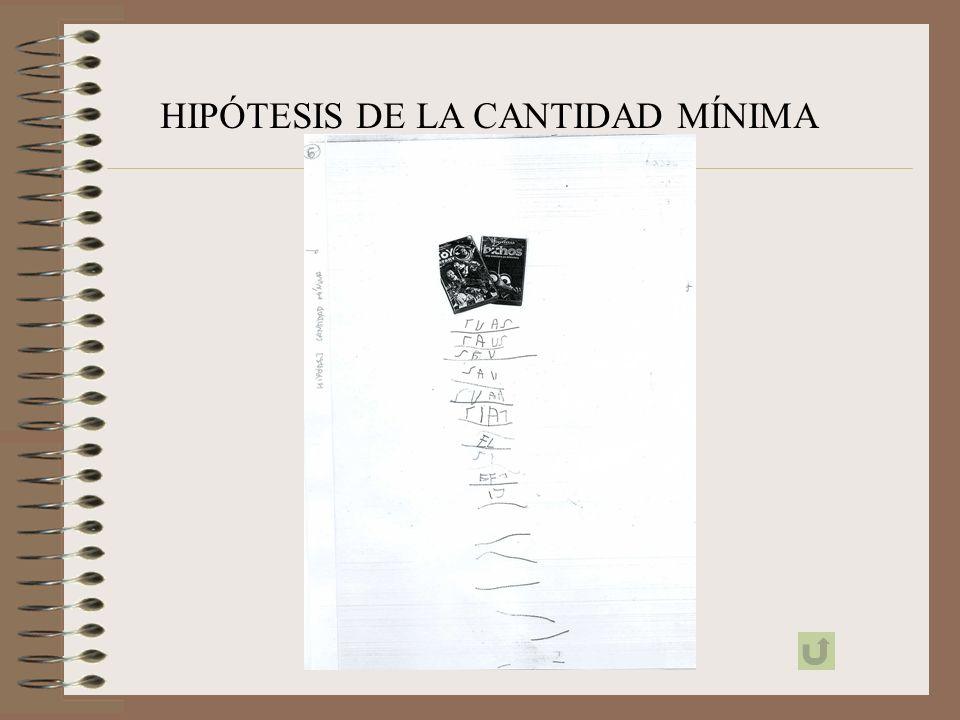 HIPÓTESIS DE LA CANTIDAD MÍNIMA
