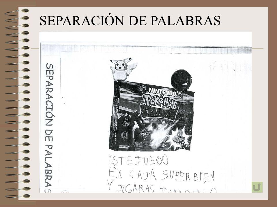 SEPARACIÓN DE PALABRAS