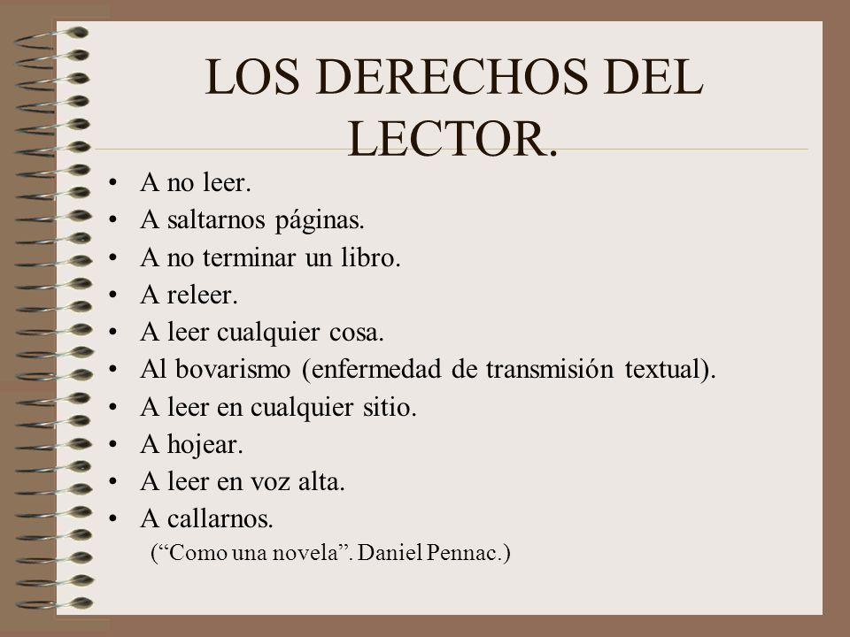 LOS DERECHOS DEL LECTOR.