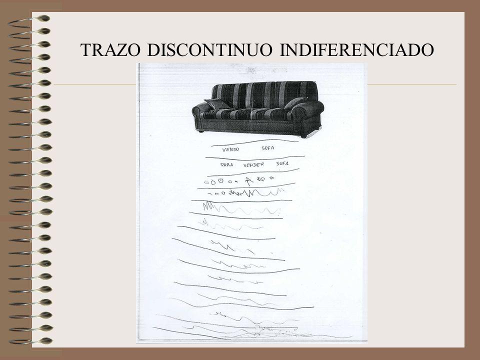 TRAZO DISCONTINUO INDIFERENCIADO