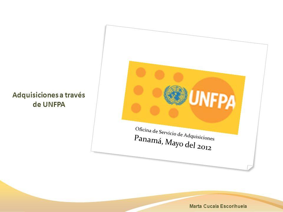 Adquisiciones a través de UNFPA