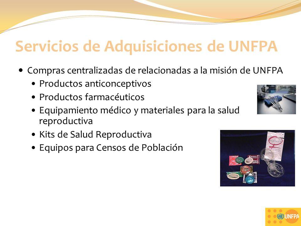 Servicios de Adquisiciones de UNFPA
