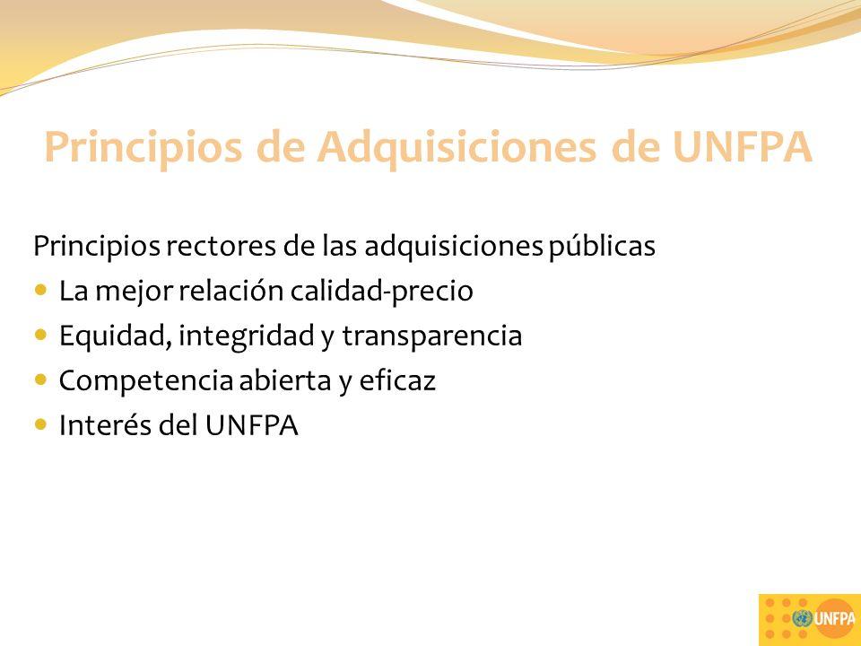 Principios de Adquisiciones de UNFPA