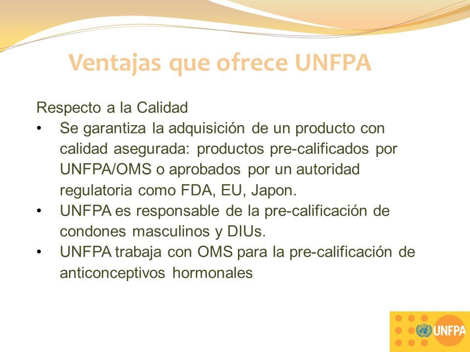 Ventajas que ofrece UNFPA